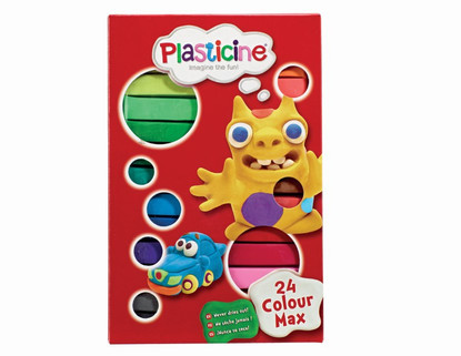 Plasticine - 24 Colour Max Plasticine Sticks Starter