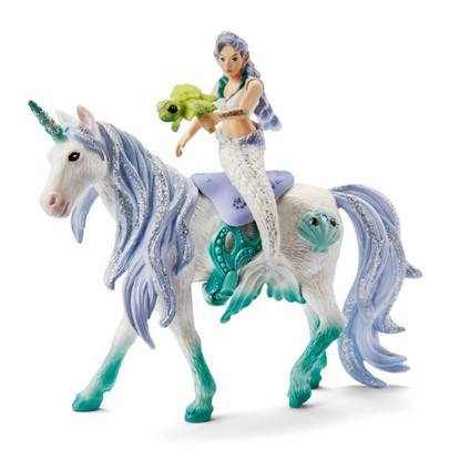 Schleich - Bayala Mermaid riding on sea unicorn SC42509