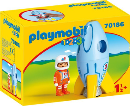 Playmobil - 1.2.3 Astronaut with Rocket PMB70186