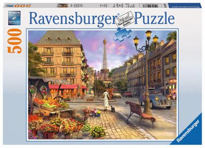 Ravensburger - A Walk Through Paris Puzzle 500 piece RB14683-3