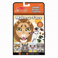 Melissa & Doug - On The Go - Make a Face Reusable Stickers - Safari MND30510