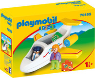 Playmobil - 1.2.3 Plane with Passenger PMB70185