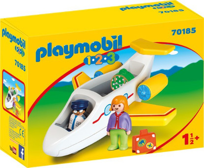 Playmobil - 1.2.3 Plane with Passenger PMB70185