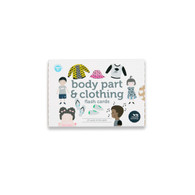 Body parts and clothing flash cards 27 pack (in Box) - Two Little Ducklings