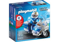 Playmobil - Police Bike with LED Light PMB6923