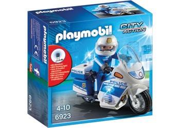 Playmobil - Police Bike with LED Light PMB6923