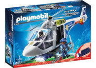 Playmobil - Police Helicopter with LED Searchlight Fire and Police PMB6921 (4008789069214)