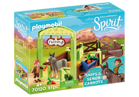 Playmobil - Spirit Stable Box Snips and Senor Carrots with Horse Stall PMB70120 (4008789701206)