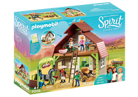 Playmobil - Spirit Barn with Warehouse, Lucky, Pru and Abigail PMB70118 (4008789701183)