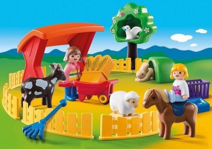 Playmobil - 123 Petting Zoo PMB6963 (4008789069634)