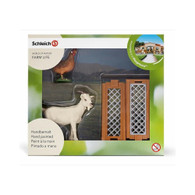Schleich - Mini Playset - Small Farm Animal Goat, Hen and Fence SC21029 (4005086210295)