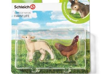 Schleich - Farm Life Babies Lamb and Hen - Set 4 (4005086210332)
