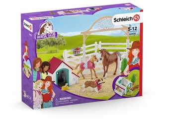 Schleich- Hannah's guest horses with Ruby the dog SC42458 (4055744014598)