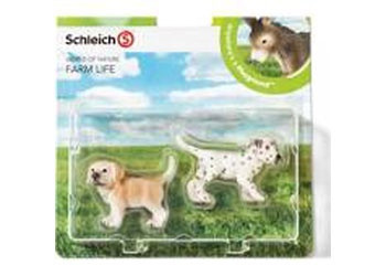 Schleich - Farm Life Babies Set 1 - Dogs (4005086210301)