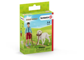 Schleich - Walking with Labrador Retriever SC42478 (4055744029844)