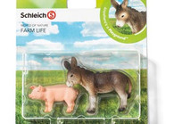 Schleich - Farm Life Babies - Set 2 Donkey Pig (4005086210318)