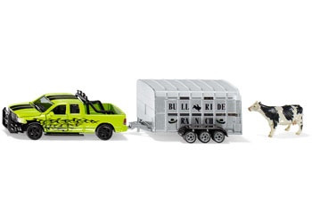 Siku - RAM 1500 with Livestock Trailer - 1:50 Scale SI1998 (4006874019984)