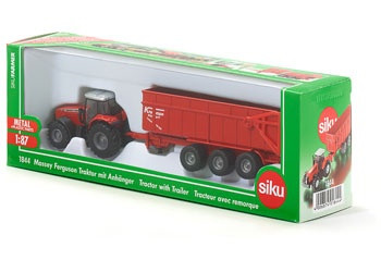 Siku - Massey Fergson Tractor with Trailer - 1:87 Scale SI1844 (4006874018444)