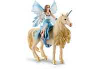 Schleich - Eyela riding on golden unicorn SC42508