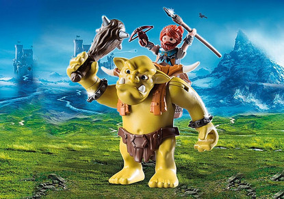 Playmobil - Giant Troll with Dwarf Fighter PMB9343 (4008789093431)