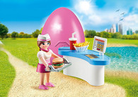 Playmobil - Diner Waitress with Counter PMB70084 (4008789700841) 1