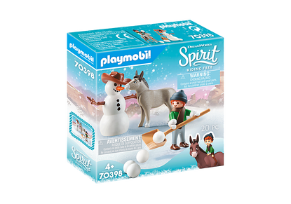 Playmobil - Spirit - Snips with Snoman - Snow time with Snips and Señor Carrots PMB70398