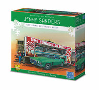 Blue Opal Jenny Sanders Running on Empty 1000 piece Deluxe Jigsaw Puzzle