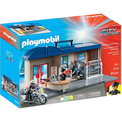 Playmobil - Take Along Police Station PMB5689