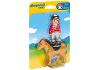Playmobil - 1.2.3 Equestrian with Horse PMB6973