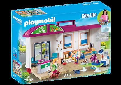 Playmobil - Take Along Vet Clinic PMB70146