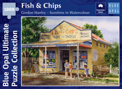 Blue Opal - Gordon Hanley - Fish And Chips 1000 piece Jigsaw Puzzle BL02138-C