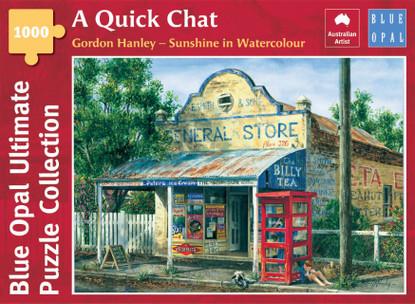 Blue Opal - A Quick Chat 1000 Piece Jigsaw Puzzle - Gordan Hanley BL02140-C