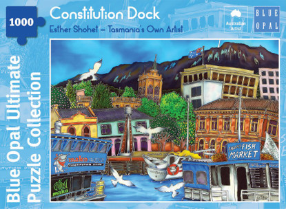 Blue Opal - Shohet Constitution Dock 1000 piece BL02107-C