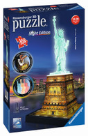 Ravensburger - Statue of Liberty at Night 3D Puzzle RB12596-8