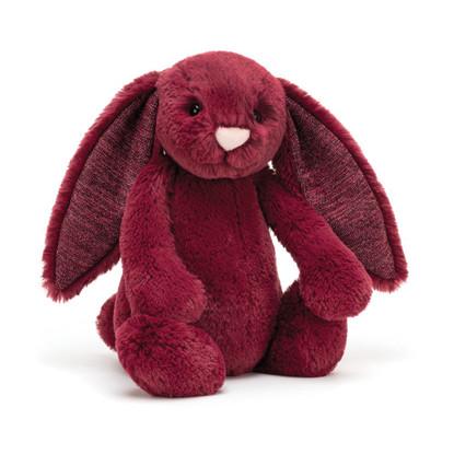 Jellycat - Bashful Sparkly Cassis Bunny Medium