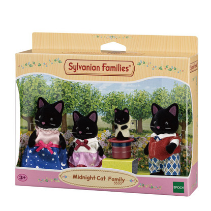 Sylvanian Families - Midnight Cat Family SF5530