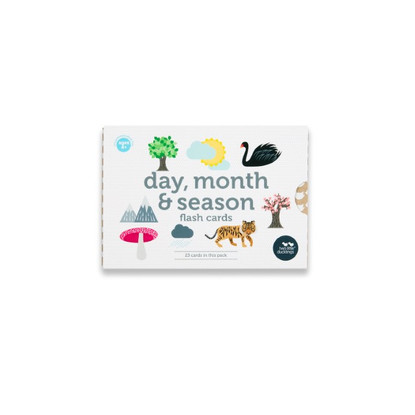 Days, Months, & Seasons Flash Cards (with Box) - Two Little Ducklings