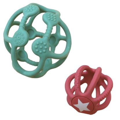 Jellystone Designs - 2 pack Sensory Ball & Fidget Ball - Sage and Dusty Pink