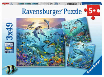 Ravemsburger - Ocean Life Puzzle 3x49 piece RB05149-6
