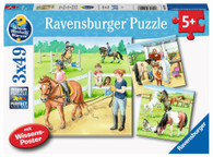 Ravensburger - A Day at the Stables Puzzle 3x49 piece RB05129-8