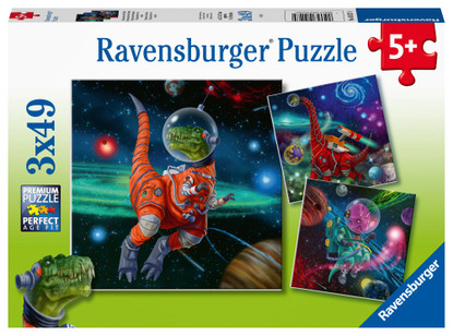 Ravensburger - Dinosaurs in Space Puzzle 3x49 piece RB05127-4