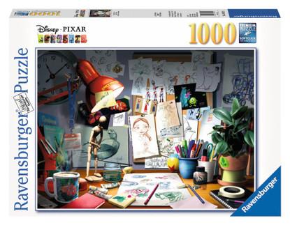 Ravensburger - Disney Pixar The Artists Desk 1000 piece RB19432-2