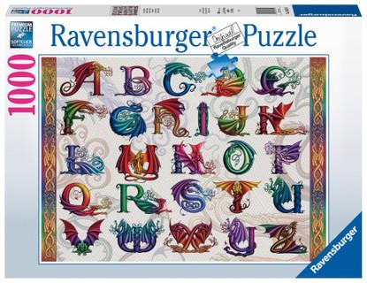 Ravensburger - Dragon Alphabet Puzzle 1000 piece RB16814-9