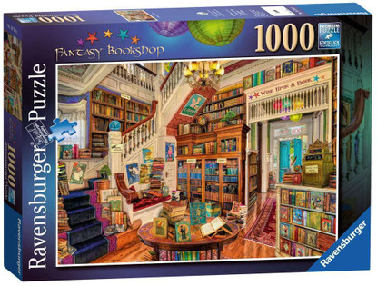 Ravensburger - The Fantasy Bookshop Puzzle 1000 piece RB19799-6
