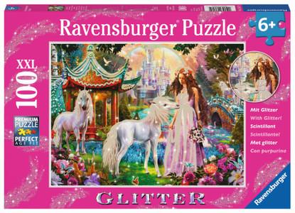 Ravensburger - Princess with Unicorn Puzzle GLITTER 100 piece RB13617-9