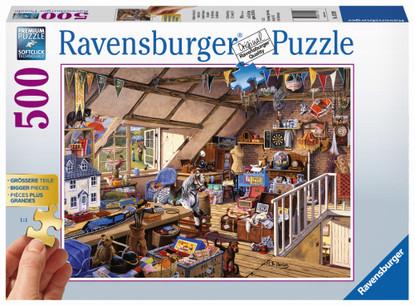 Ravensburger - Grandmas Attic Puzzle 500 piece Large Format RB13709-1