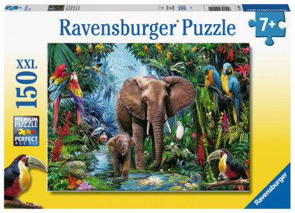 Ravensburger - Elephants at the Oasis Puzzle 150 piece RB12901-0