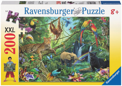 Ravensburger - Animals in the Jungle Puzzle 200 piece RB12660-6