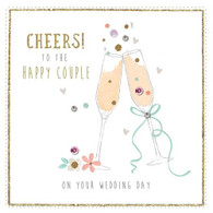Cheers to the Happy Couple - Wedding Card - Morello Hotchpotch London