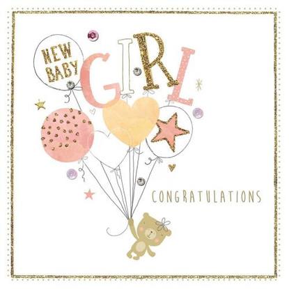 New Baby Boy Baloons Card - Morello Hotchpotch London